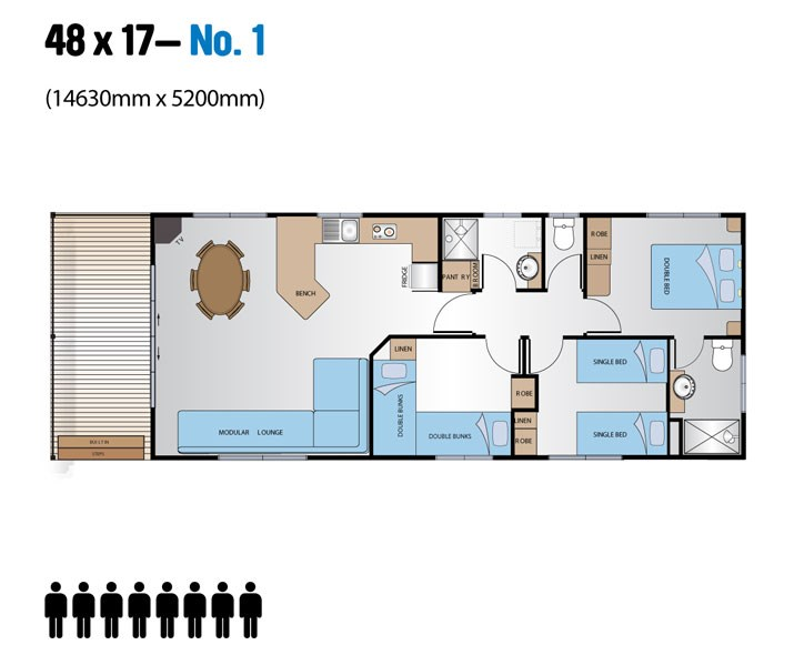 Jayco Leisure Homes 48x17 Floor Plan 1