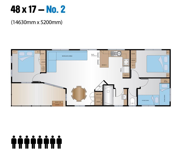 Jayco Leisure Homes 48x17 Floor Plan 2