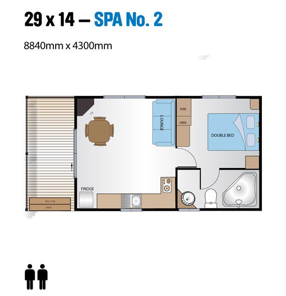 Jayco Leisure Homes 29x14 Spa Series Floor Plan