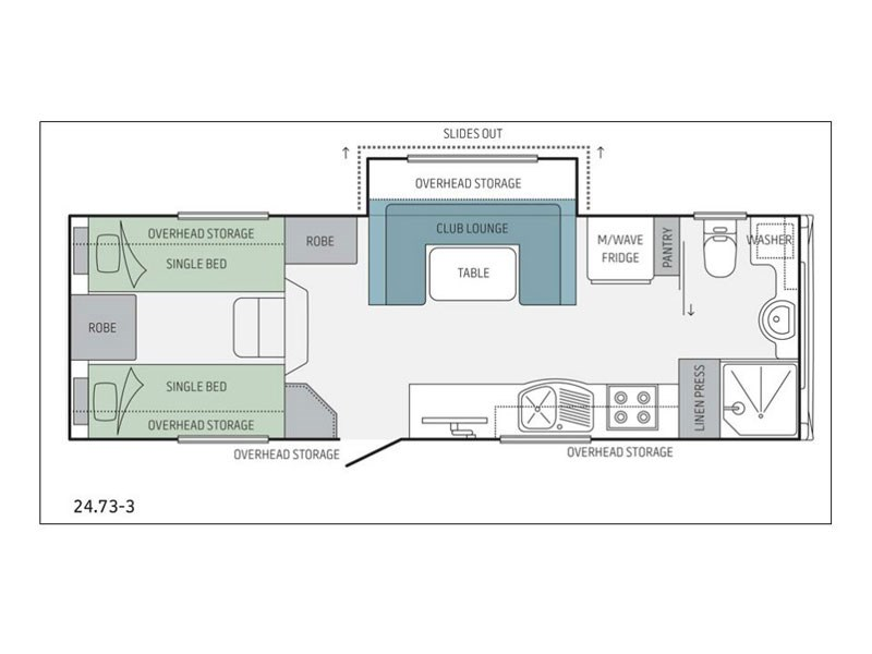 Jayco 24.73-3 5th Wheeler Floor Plan