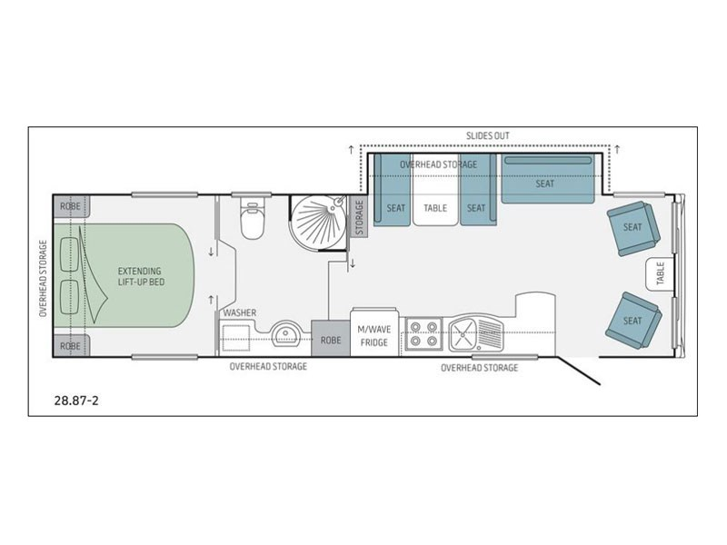 Jayco 28.87-2  5th Wheeler Floor Plan