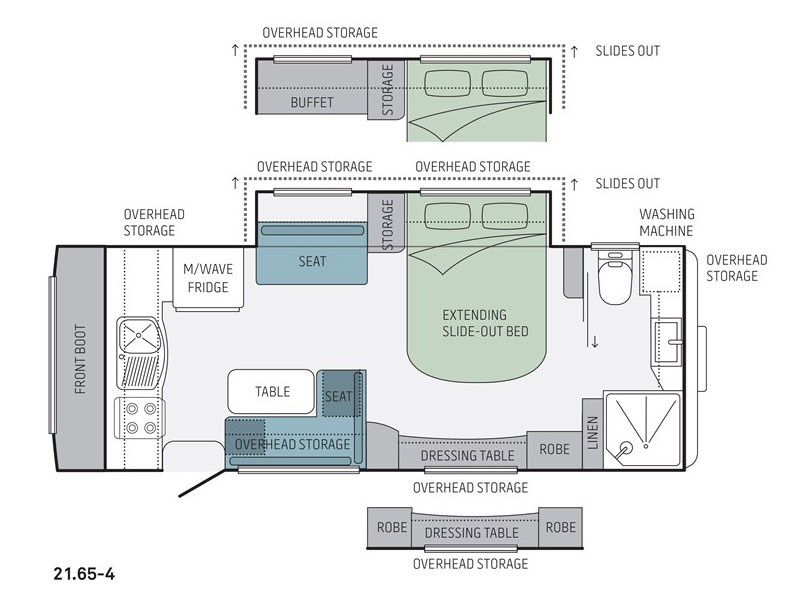 Jayco Silverline 21.65-4 Caravan Floor Plan