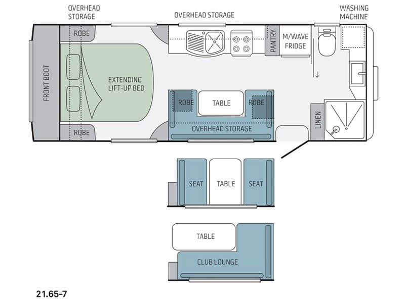 Jayco Silverline 21.65-7 Caravan Floor Plan