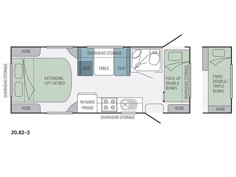 Jayco Starcraft 20.62-3 Floor Plan