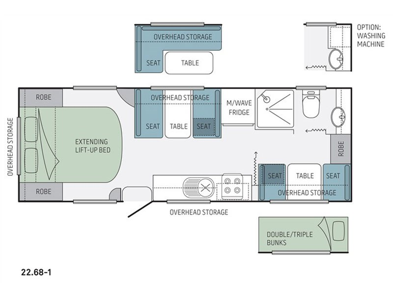 Jayco Starcraft 22.68-1 Floor Plan