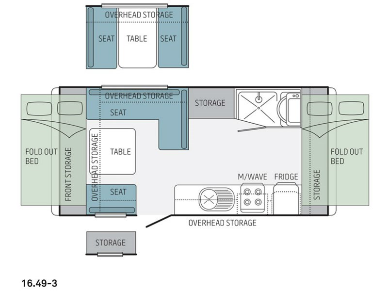 Jayco Expanda 16.49-3 Pop Top Floor Plan