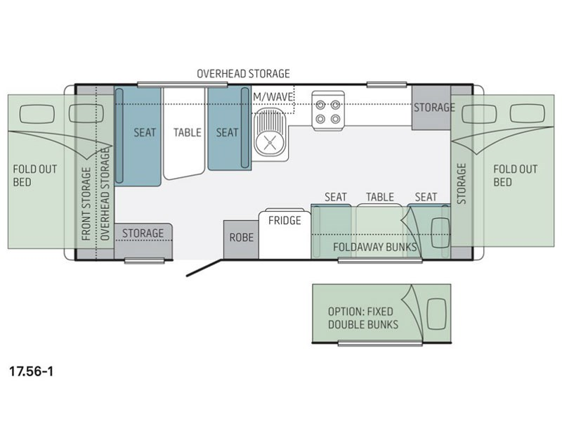 Jayco Expanda 17.56-1 Pop Top Floor Plan