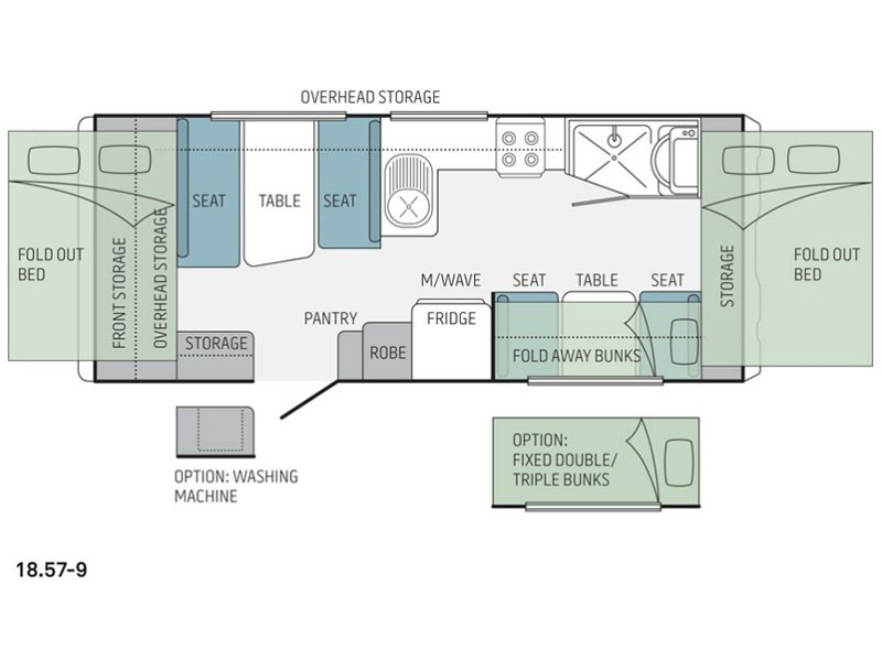Jayco Expanda 18.57-9 Pop Top Floor Plan