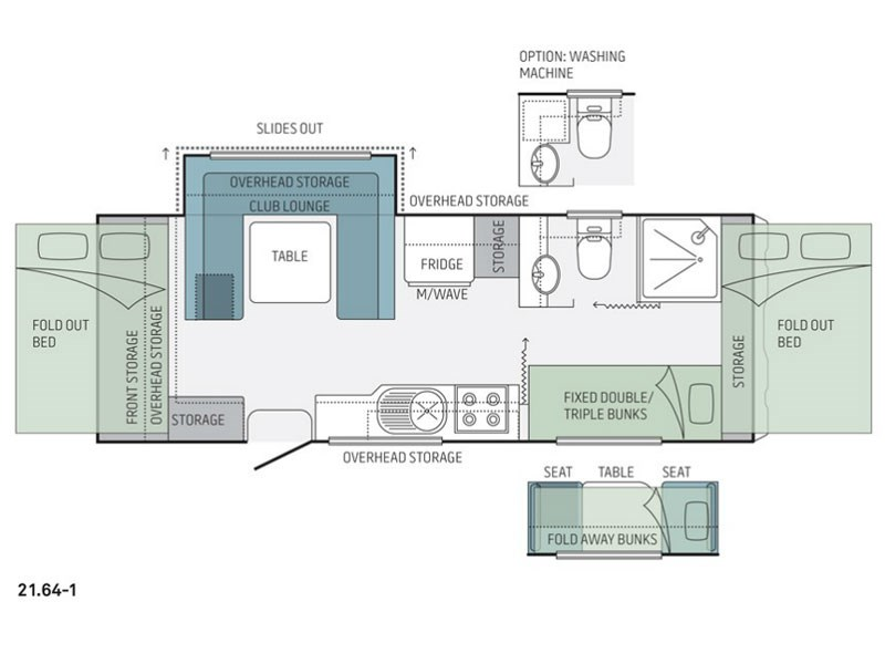 Jayco Expanda 21.64-1 Pop Top Floor Plan
