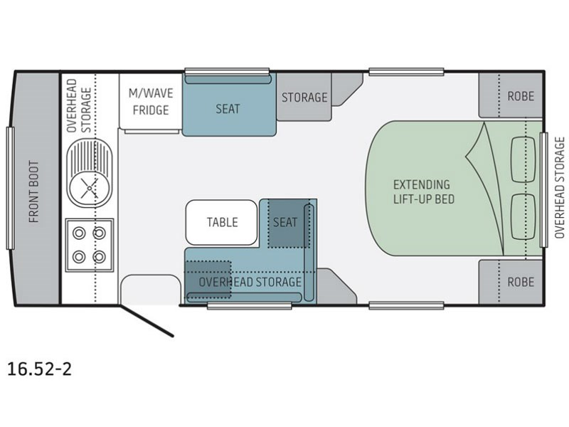 Jayco Journey 16.52-2 Floor Plan