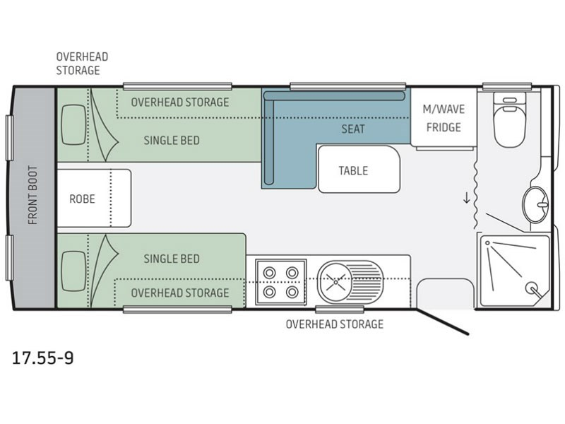 Jayco Journey 17.55-9 Floor Plan