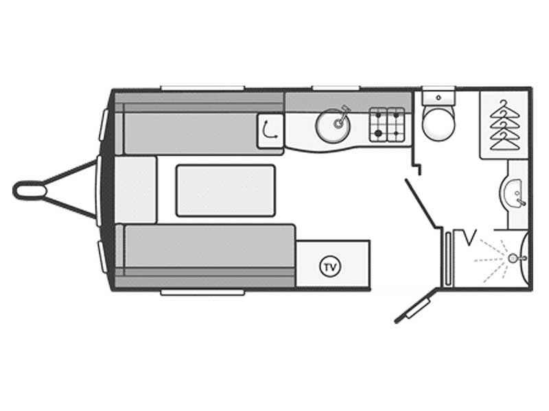 Swift Challenger Sport 442 Layout