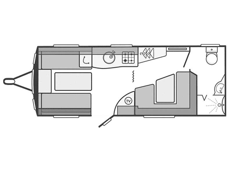 Swift Challenger Sport 544 Layout