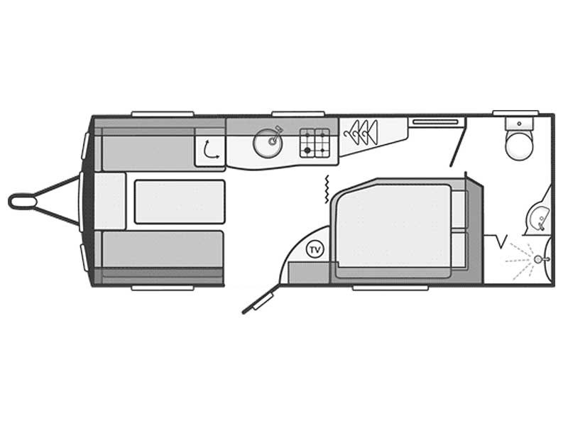 Swift Challenger Sport 554 Layout