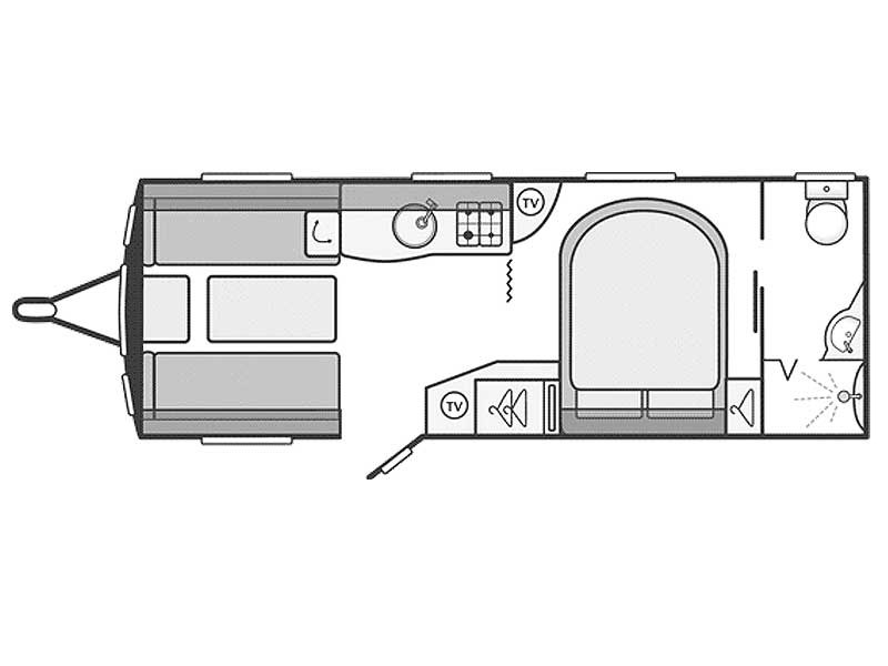 Swift Challenger Sport 584 Layout