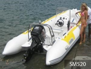 aakron 7.3m rib with steering console 233941 001