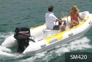 aakron 3.8m rib with steering console 233914 003