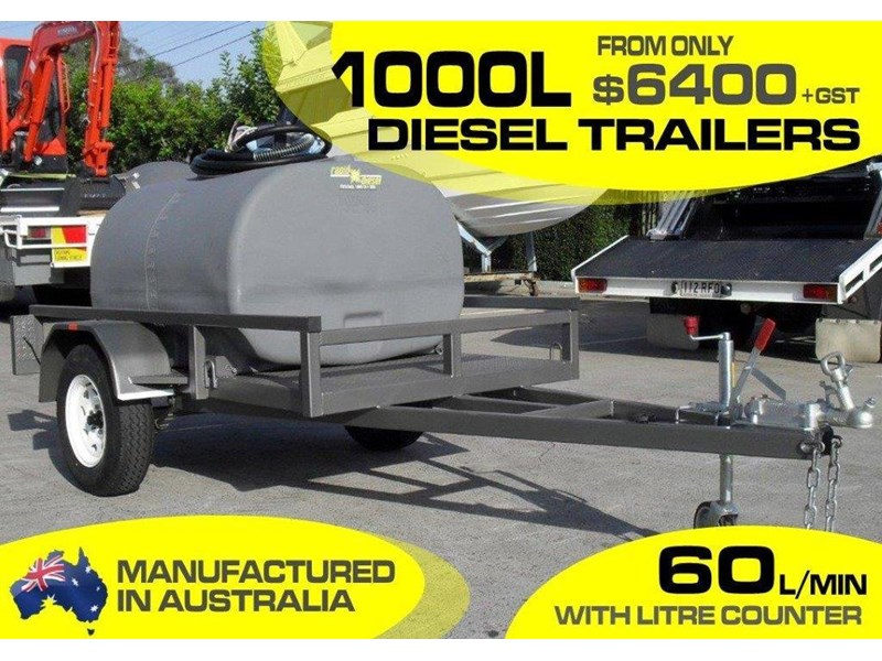 lockable & secure poly 1000l cartage diesel trailer [on road] [tfpoly] [attftrail] [ duc1000lfb60-t] 243075 002