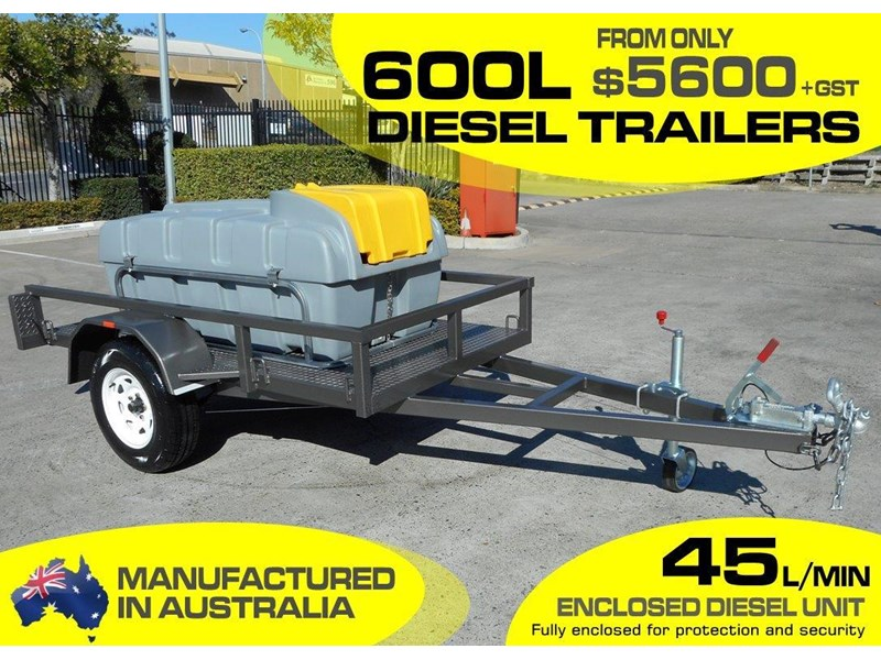 lockable & secure poly 600l enclosed on road diesel fuel trailer [tfpoly] [attftrail] 243054 002