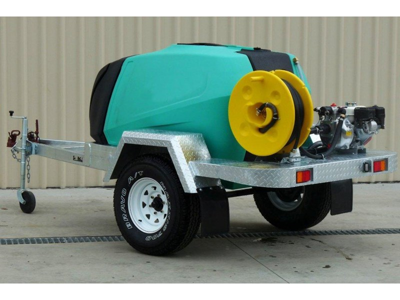 rapid 1000 l water tank / fire fighting trailer [p1000ff] [tffire] [tfwater] 243707 001