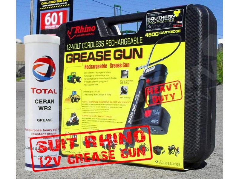 rhino grease. heavy duty. water resistant, multi purpose grease - 450g cartridge [wr2] [tfggun] 246637 007