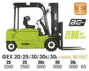 clark gex30l electric forklift 270486 001