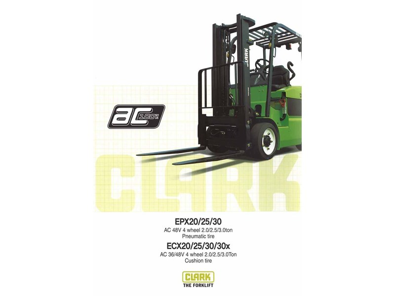 clark ecx30 electric forklift 270477 002