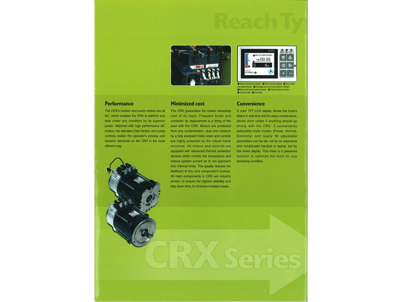 clark crx13 electric reach truck 270498 004