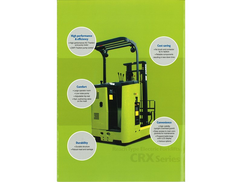 clark crx13 electric reach truck 270498 006