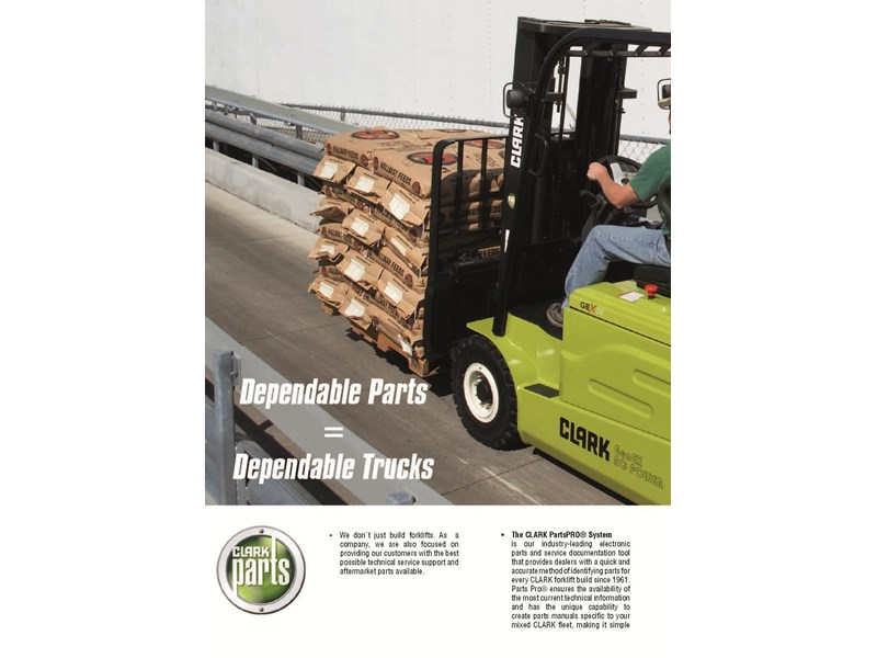 2015 CLARK GEX30L ELECTRIC FORKLIFT for sale