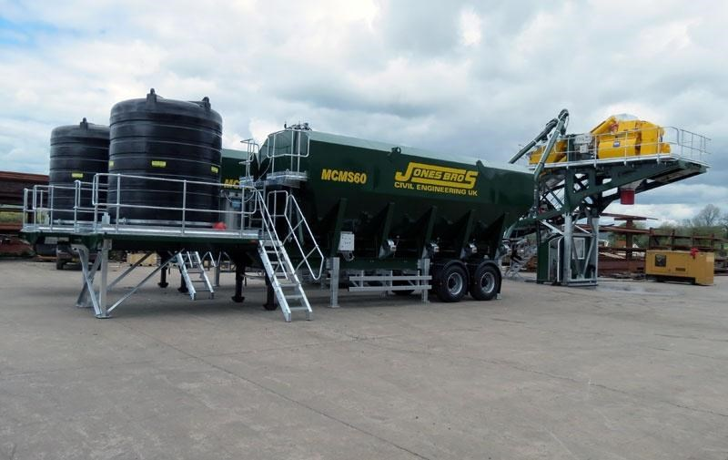mccrory mcm-40 mobile concrete batching plant 272974 006