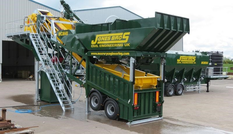 mccrory mcm-40 mobile concrete batching plant 272974 007