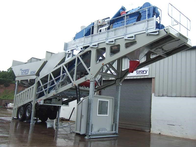 mccrory mcm-40 mobile concrete batching plant 272974 002