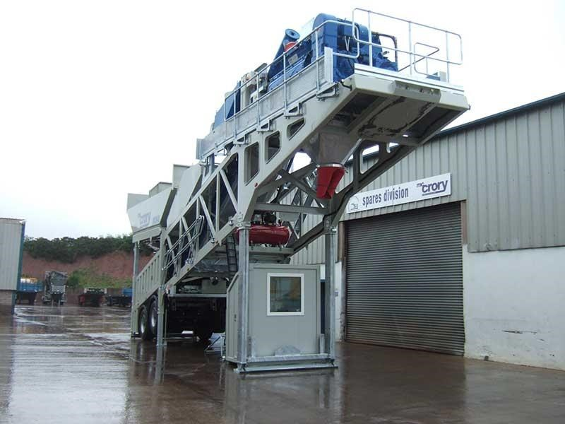 mccrory mcm-40 mobile concrete batching plant 272974 003