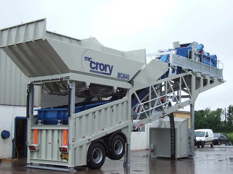 mccrory mcm-40 mobile concrete batching plant 272974 001