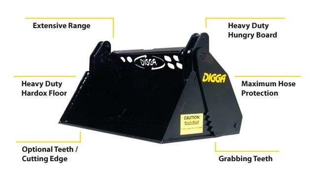 digga mini 4 in 1 bucket 273232 001