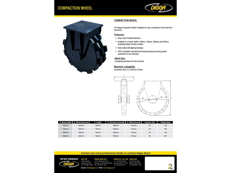 digga compaction wheel 273852 002