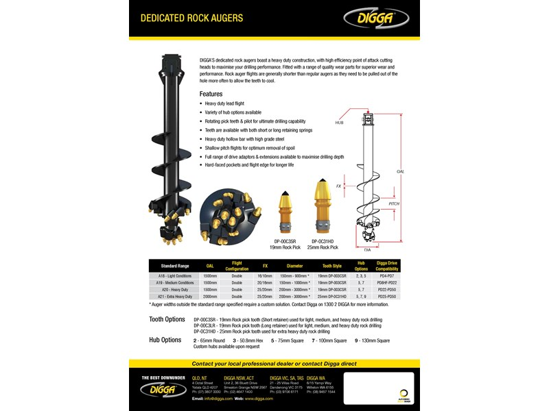 digga a21 dedicated rock auger 273867 002
