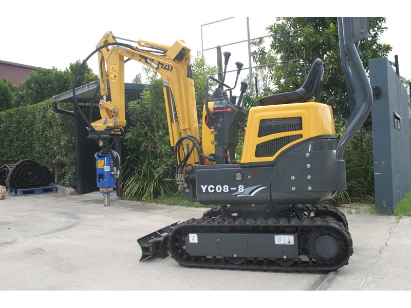 yuchai yc08-8 excavator and trailer combo 275748 007