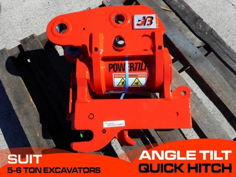 jb attachments u55, kx057 5ton+ excavators hydraulic power tilting quick hitch [jb055] [attbuck] 281478 001