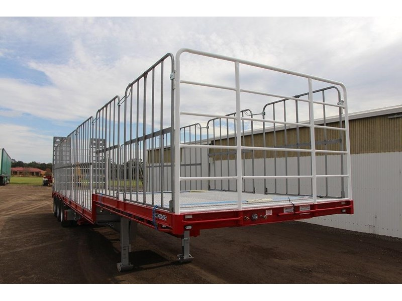freighter 45ft drop deck trailer with rear hydraulic ramps 283022 021