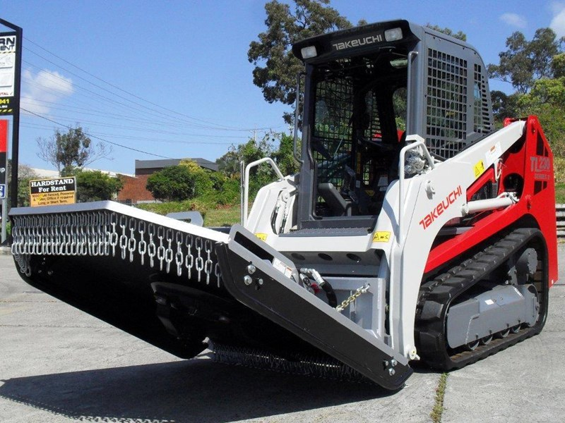 rhino [5' feet] 1650mm loader / takeuchi tl10 tl12 skid steer loader brush cutter / slasher attachment. [attslash] 236312 002