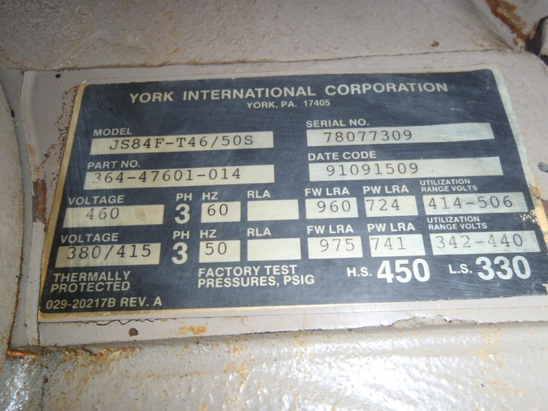 york air compressor x 2 285636 008