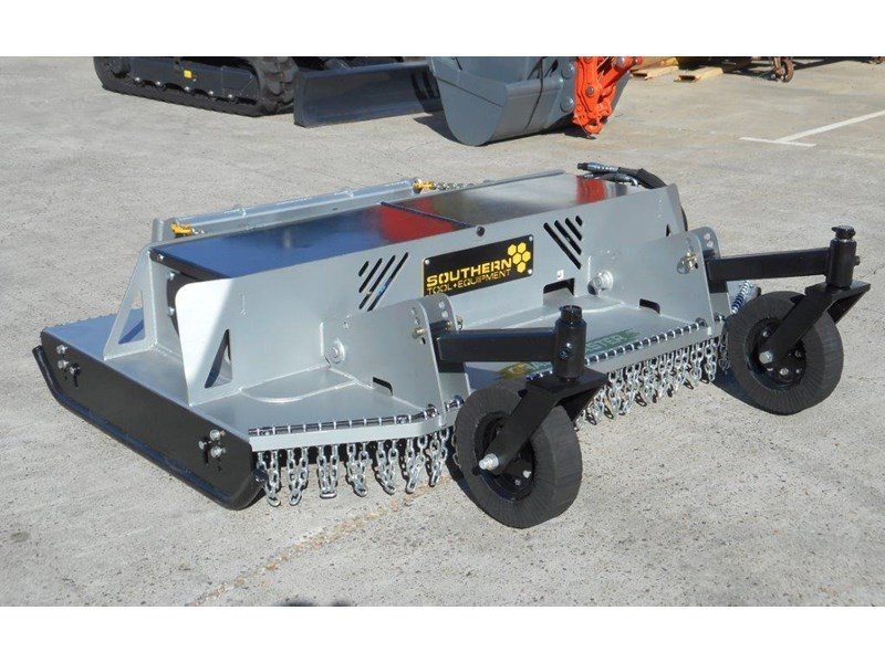 southern tool [7' feet] slasher twin head brush cutter attachment - 2130mm cut width 274686 008
