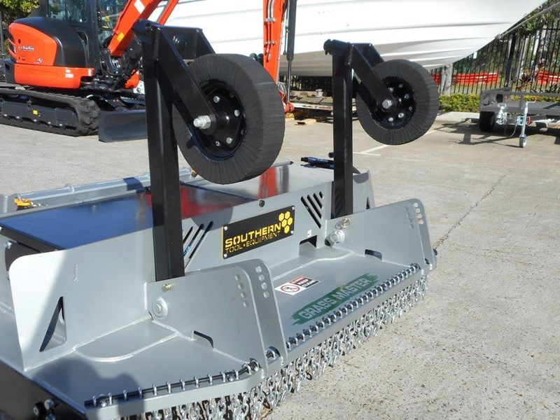 southern tool twin head high flow slasher [7' feet] / 2130mm brush cutter attachment [attslash] - suit excavators / skid steer loader 275290 008