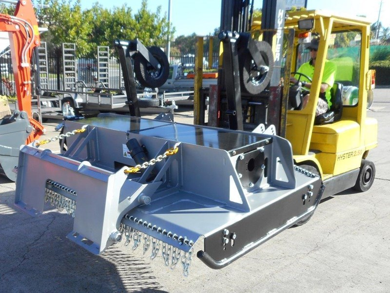 southern tool twin head high flow slasher [7' feet] / 2130mm brush cutter attachment [attslash] - suit excavators / skid steer loader 275290 013