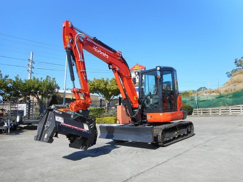 kubota flail mower / mulchers attachment with 724mm cutting width suit kubota kx057 u57 / u55 [attslash][attmulch] 297276 016