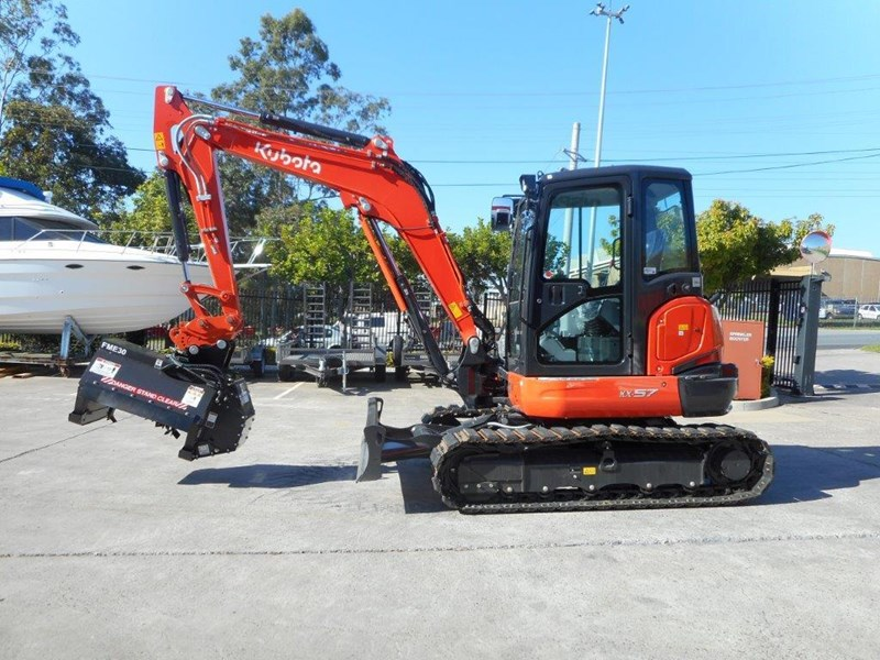 kubota flail mower / mulchers attachment with 724mm cutting width suit kubota kx057 u57 / u55 [attslash][attmulch] 297276 017