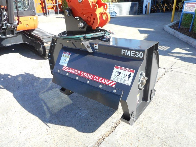 kubota flail mower / mulchers attachment with 724mm cutting width suit kubota kx057 u57 / u55 [attslash][attmulch] 297276 002