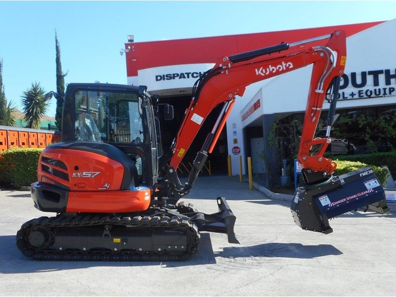 kubota kx57 u57 excavator with mower 297379 002